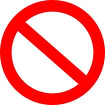 Знак запрещено