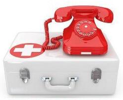 Красный телефон с аптечкой